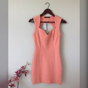 Foreign Exchange Form Fitting Peach Dress New